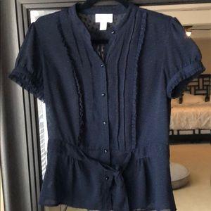 Navy blue Loft blouse - size 8